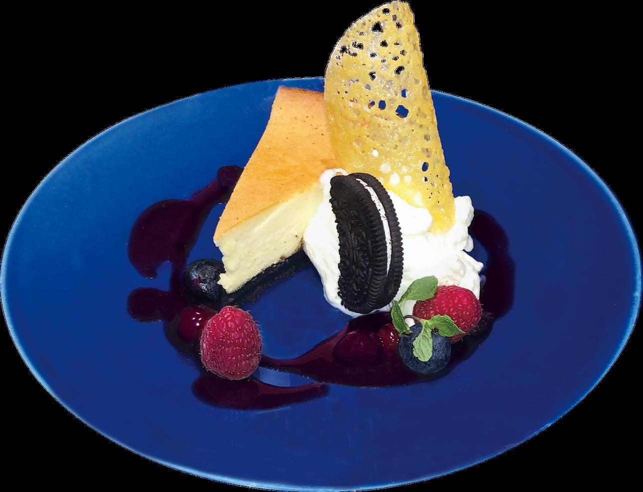 チーズケーキ ブルーベリーソース